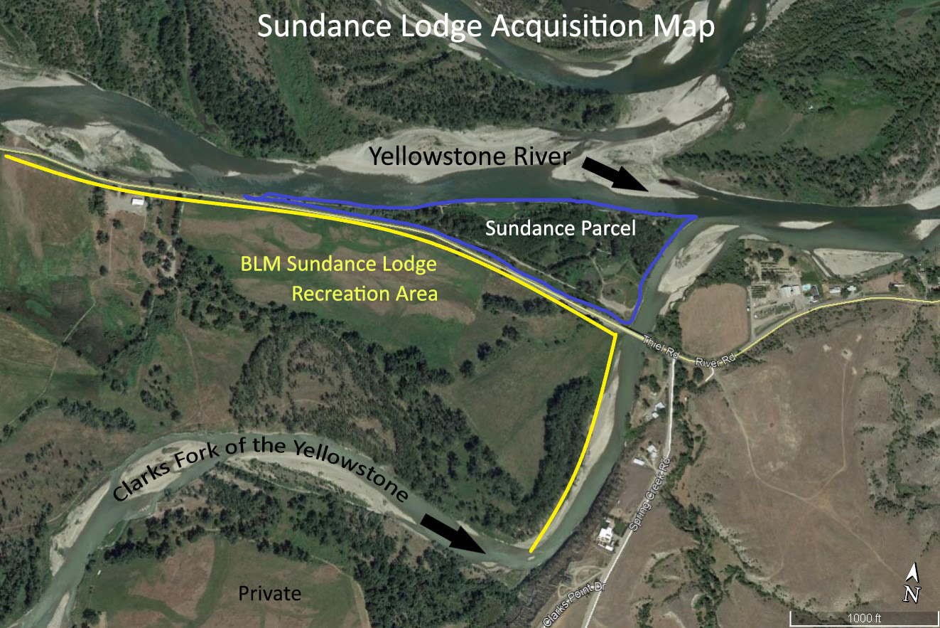 Map depicting the location of the addition to the Sundance Lodge Recreation Area